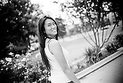 Dancer Cathy Nguyen photographed in Pasadena, California. Cathy Nguyen is an internationally known hip-hop and popping dancer. She is Vietnamese and lives in Paris, France.