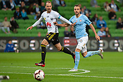 MELBOURNE, VIC - NOVEMBER 09: Melbourne City midfielder Florin Berenguer-Bohrer (27) watches on at the Hyundai A-League Round 4 soccer match between Melbourne City FC and Wellington Phoenix on November 09, 2018 at AAMI Park in Melbourne, Australia. (Photo by Speed Media/Icon Sportswire)