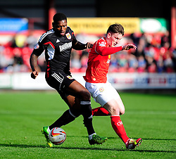 Bristol City's Jay Emmanuel-Thomas in action against Crewe - Photo mandatory by-line: Dougie Allward/JMP - Tel: Mobile: 07966 386802 19/10/2013 - SPORT - FOOTBALL - Alexandra Stadium - Crewe - Crewe V Bristol City - Sky Bet League One