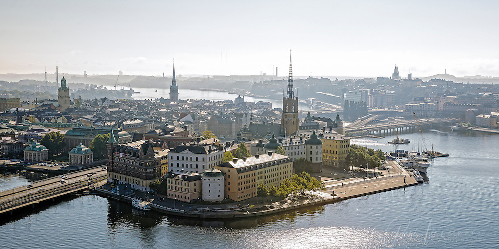 View from Stockholm's City Hall over Riddarholmen