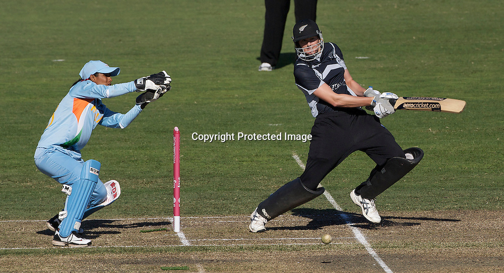 Sydney-March 17:   Nicola Brown batting during the match between New Zealand and India in the Super 6 stage of the ICC Women's World Cup Cricket tournament at North Sydney  Oval, Sydney, Australia on March 17, 2009. New Zealand beat India by 5 wickets. Photo by Tim Clayton.