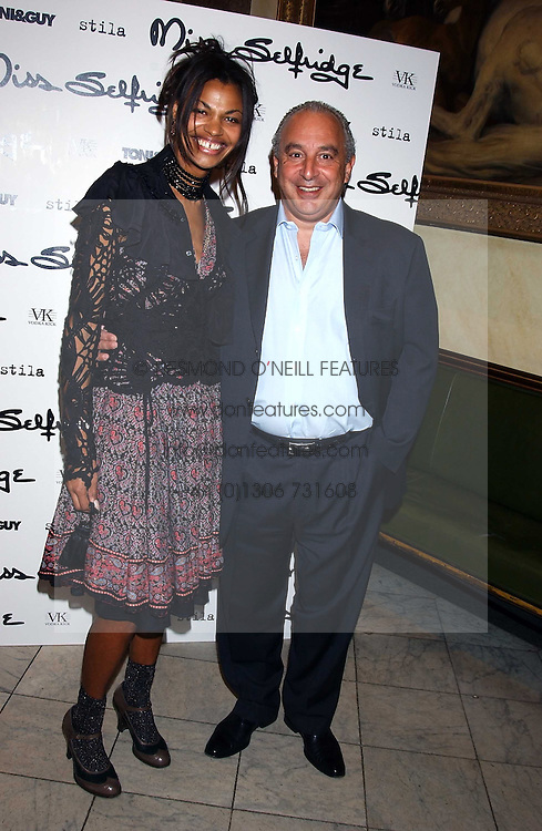 Left to right, SIM SCAVAZZA and PHILIP GREEN  at a fashion show featuring the Miss Selfridge Autumn/Winter '05 collections held at The Wallace Collection, Manchester Square, London W1 on 6th April 2005.<br />