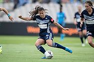 SYDNEY, AUSTRALIA - NOVEMBER 17: Melbourne Victory defender Angela Beard clears the ball during the round 1 W-League soccer match between Sydney FC Women and Melbourne Victory Women on November 17, 2019 at Netstrata Jubilee Stadium in Sydney, Australia. (Photo by Speed Media/Icon Sportswire)