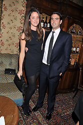 INDIA LANGTON and NUMA HEATHCOTE at a dinner hosted by Edward Taylor and Alexandra Meyers in association with Johnnie Walker Blue Label held at Mark's Club, 46 Charles Street, London W1 on 26th April 2012.