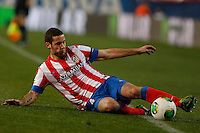 31.01.2013 SPAIN - Copa del Rey 12/13 Matchday 1/4  match played between Atletico de Madrid vs Sevilla Futbol Club (2-1) at Vicente Calderon stadium. The picture show  Mario Suarez Mata (Spanish midfielder of At. Madrid)