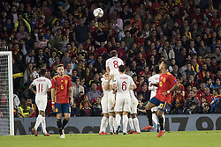 October 15, 2018 - Seville, Spain - Players of England celebrate after scoring 3-0 during the UEFA Nations League Group A4 soccer match between Spain and England at the Benito Villamarin Stadium (Credit Image: © Daniel Gonzalez Acuna/ZUMA Wire)
