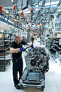 Mercedes-AMG engine production factory in Affalterbach, Germany - engineer hand-building an M275 6 litre V12 biturbo engine