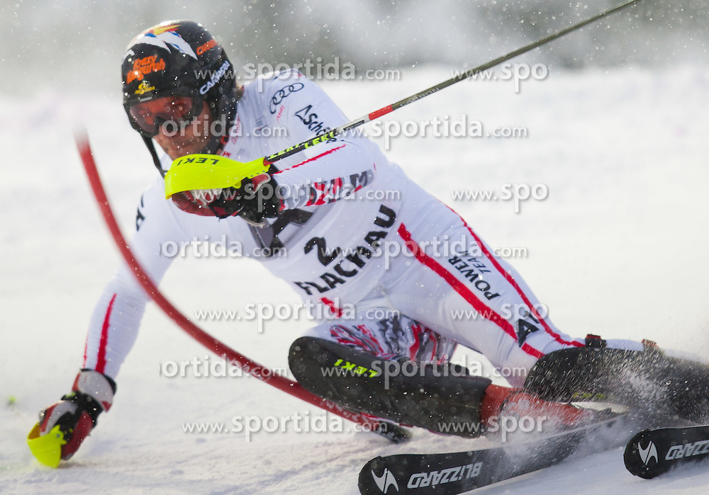 21.12.2011, Hermann Maier Weltcup Strecke, Flachau, AUT, FIS Weltcup Ski Alpin, Herren, Slalom 1. Durchgang, im Bild Mario Matt (AUT) in Aktion // Mario Matt of Austria in action during Slalom race 1st run of FIS Ski Alpine World Cup at 'Hermann Maier World Cup' course in Flachau, Austria on 2011/12/21. EXPA Pictures © 2011, PhotoCredit: EXPA/ Johann Groder