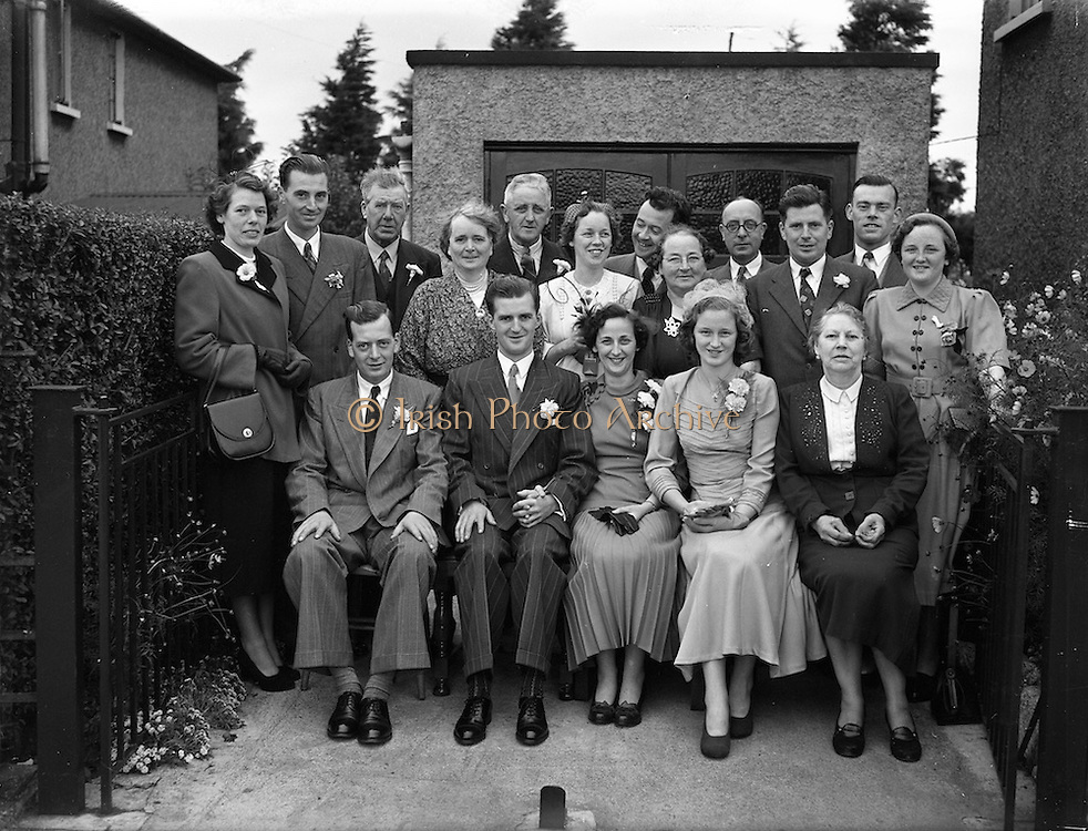 24/9/1952<br /> 9/24/1952<br /> 24 September 1952<br /> <br /> Wedding of Mr. D. McKeon and Miss Peggy Egan at Bath Ave Garden and Sandymount at Star of the Sea
