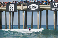 Huntington Beach, CA - August 06: Sage Erickson competes in the womens finals heat at the Vans US Open of Surfing in Huntington Beach, California on August 6th, 2017. (Photo Jim Kruger/Kruger-images.com)