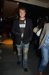 Singer DUNCAN JAMES at a party to launch Three's A Crowd held at the Mayfair Hotel, Berkley Street, London on 5th December 2006.<br /><br />NON EXCLUSIVE - WORLD RIGHTS