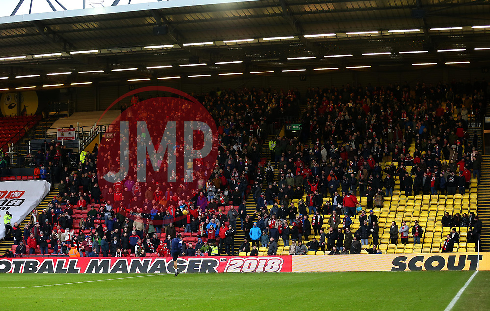 Bristol City fans at Watford - Mandatory by-line: Robbie Stephenson/JMP - 06/01/2018 - FOOTBALL - Vicarage Road - Watford, England - Watford v Bristol City - Emirates FA Cup third round proper