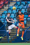 Dundee&rsquo;s Matty Allan and Dundee United trialist Felitciano Zschusschen - Dundee v Dundee United in the SPFL Development League at Links Park, Montrose. Photo: David Young<br /> <br />  - &copy; David Young - www.davidyoungphoto.co.uk - email: davidyoungphoto@gmail.com