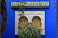 Ornate moroccan window, Jardin Majorelle, Marrakesh