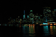 The Lower Manhattan Skyline seen from the Staten Island Ferry, New York City