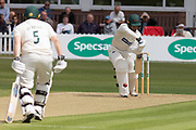 Hassan Azad batting  during the Specsavers County Champ Div 2 match between Leicestershire County Cricket Club and Derbyshire County Cricket Club at the Fischer County Ground, Grace Road, Leicester, United Kingdom on 28 May 2019.