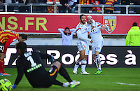 Joie Lyon - Nabil FEKIR / Christphe JALLET / deception Lens - 17.01.2015 - Lens / Lyon - 21eme journee de Ligue 1 <br />