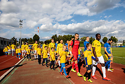 Players of Bravo and Celje prior to the football match between NK Bravo and NK Celje in 13th Round of Prva liga Telekom Slovenije 2019/20, on October 5, 2019 in ZAK stadium, Ljubljana, Slovenia. Photo by Vid Ponikvar / Sportida