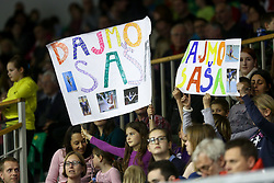 Fans during Final day 2 of Artistic Gymnastics World Challenge Cup Ljubljana, on April 20, 2014 in Hala Tivoli, Ljubljana, Slovenia. (Photo by Matic Klansek Velej / Sportida.com)