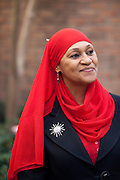 For a Brian Knowlton FF story on Muslim women in the US..USA, Atlanta, GA. 10, NOVEMBER, 2010. Tayyibah Taylor is the publisher and editor-in-chief of Azizah: The Voice For Muslim Magazine, a magazine published in Atlanta, Georgia. .. //// KENDRICK BRINSON/LUCEO for the International Herald Tribune
