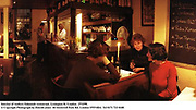 Interior of Andrew Edmunds restaurant. Lexington St. London.  27/1/99. <br /> © Copyright Photograph by Dafydd Jones  66 Stockwell Park Rd. London SW9 0DA  Tel 0171 733 0108