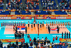 19-10-2018 JPN: Semi Final World Championship Volleyball Women day 20, Yokohama<br /> Serbia - Netherlands / Team Serbia and Netherlands
