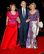 1-2-2014  ROTTERDAM NETHERLANDS  Prinses Margriet with Prince Pieter van Vollenhoven and princess Irene  arrives  for the celebration party for Queen Beatrix to thank fed for being 33 years the Queen of the Netherlands COPYRIGHT ROBIN UTRECHT