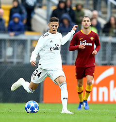 November 27, 2018 - Rome, Italy - AS Roma - FC Real Madrid : UEFA Youth League Group G .Alexandru Tirlea of Real Madrid in action at Tre Fontane Stadium in Rome, Italy on November 27, 2018. (Credit Image: © Matteo Ciambelli/NurPhoto via ZUMA Press)