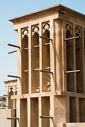 Traditional historical architecture in Al Bastakiya historical district in Bur Dubai United Arab Emirates