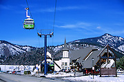 Silver Mountain Ski Resort Gondola at Kellog, north Idaho.