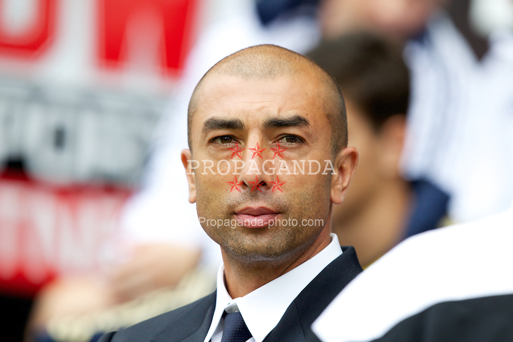 WIGAN, ENGLAND - Sunday, August 19, 2012: Chelsea's manager Roberto Di Matteo before the Premiership match against Wigan Athletic at the DW Stadium. (Pic by Vegard Grott/Propaganda)