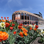 Citi Field on a spring day before the New York Mets Vs Washington Nationals MLB regular season baseball game at Citi Field, Queens, New York. USA. 3rd May 2015. Photo Tim Clayton