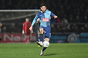 Wycombe Wanderers defender Joe Jacobson (3) controls the ball during the EFL Sky Bet League 1 match between Wycombe Wanderers and Coventry City at Adams Park, High Wycombe, England on 29 December 2019.