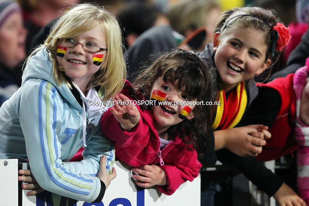 Young Waikato fans. ITM Cup Final, Waikato v Canterbury at Waikato Stadium, Hamilton, New Zealand. Saturday 3rd September 2011. Photo: Anthony Au-Yeung / photosport.co.nz