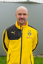 15.07.2015, Dortmund, AUT, 1. FBL, Borussia Dortmund, Fototermin, im Bild Physiotherapeut Thomas Zetzmann ( Borussia Dortmund / Portrait ) // during the official Team and Portrait Photoshoot of German Bundesliga Club Borussia Dortmund at the Dortmund, Germany on 2015/07/15. EXPA Pictures &copy; 2015, PhotoCredit: EXPA/ Eibner-Pressefoto/ Thienel<br /> <br /> *****ATTENTION - OUT of GER*****