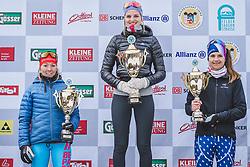 18.01.2020, Loipe Obertilliach, AUT, 50 Jahre Dolomitenlauf, Freestyle, im Bild v.l.: 2. Platz Iris Pessey (FRA/42km), 1. Platz Anna Seebacher (AUT/42km), 3. Platz Claudia Egginger (AUT/42km) // during the 50 years Dolomitenlauf Freestyle race at Obertilliach, Austria on 2010/01/18, EXPA Pictures © 2020 PhotoCredit: EXPA/ Dominik Angere