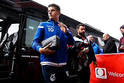 Tom Nichols of Bristol Rovers arrives at Doncaster Rovers - Mandatory by-line: Robbie Stephenson/JMP - 19/10/2019 - FOOTBALL - The Keepmoat Stadium - Doncaster, England - Doncaster Rovers v Bristol Rovers - Sky Bet League One