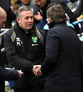 Picture by Paul Chesterton/Focus Images Ltd.  07904 640267.03/12/11.Norwich Manager Paul Lambert and Man City Manager Roberto Mancini before the Barclays Premier League match at the Etihad Stadium, Manchester.