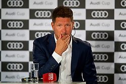 MUNICH, GERMANY - Monday, July 31, 2017: Atletico de Madrid head coach Diego Pablo Simeone during a press conference ahead of the Audi Cup 2017 at the Westin Grand Hotel München. (Pic by David Rawcliffe/Propaganda)