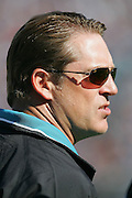 JACKSONVILLE, FL - DECEMBER 12:  Head Coach Jack Del Rio of the Jacksonville Jaguars questions an official's call during the game against the Chicago Bears on December 12, 2004 at Alltel Stadium in Jacksonville, Florida. The Jags defeated the Bears 22-3. ©Paul Anthony Spinelli *** Local Caption *** Jack Del Rio