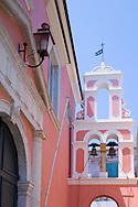 The belltower of Agios Triada in Gaios, Paxos, Ionian Islands, Greece