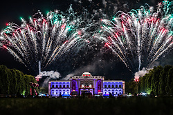 26.05.2019, Schloss Klessheim, Salzburg, AUT, 1. FBL, FC Red Bull Salzburg Meisterfeier, im Bild Feuerwerk // during the Austrian Football Bundesliga Championsship Celebration at the Schloss Klessheim in Salzburg, Austria on 2019/05/26. EXPA Pictures © 2019, PhotoCredit: EXPA/ JFK
