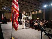 09 JUNE 2019 - CEDAR RAPIDS, IOWA: Author MARIANNE WILLIAMSON speaks at the Iowa Democrats 2019 Hall of Fame Celebration in the Cedar Rapids Convention Center. Nineteen of the Democratic candidates for president in 2020 spoke at the annual event. Iowa traditionally hosts the the first election event of the presidential election cycle. The Iowa Caucuses will be on Feb. 3, 2020.                          PHOTO BY JACK KURTZ