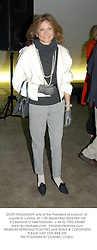 DORIT MOUSSAIEFF wife of the President of Iceland, at a party in London on 11th September 2003.PMI 109