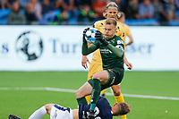 Fotball , 5. august 2019 , Eliteserien<br /> Strømsgodset - Bodø Glimt<br /> Mikkel Maigaard Jakobsen, Strømsgodset<br /> Ricardo, Bodø/Glimt<br /> Foto: Christoffer Hansen , Digitalsport
