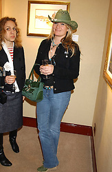 Singer GEORGINA BLAKELEY at a private view of paintings by singer Tony Bennett held at the catto Gallery, 100 Heath Street, London NW3 on 5th April 2005.<br /><br />NON EXCLUSIVE - WORLD RIGHTS