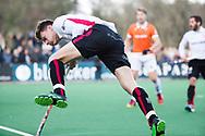 BLOEMENDAAL - Hockey - Bloemendaal-Oranje Rood 3-2. Jelle Galema (Oranje-Rood) .  COPYRIGHT KOEN SUYK