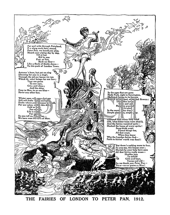 The Fairies of London to Peter Pan, 1912. (illustrated poem)