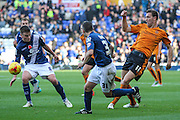 Wolverhampton Wanderers Kevin McDonald passes the ball during the Sky Bet Championship match between Birmingham City and Wolverhampton Wanderers at St Andrews, Birmingham, England on 31 October 2015. Photo by Shane Healey.