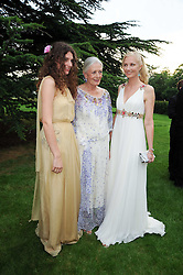 Left to right, DAISY BEVAN, her grandmother VANESSA REDGRAVE and JOELY RICHARDSON at the Raisa Gorbachev Foundation Party held at Stud House, Hampton Court Palace on 5th June 2010.  The night is in aid of the Raisa Gorbachev Foundation, an international fund fighting child cancer.